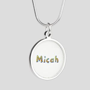Micah Giraffe Silver Round Necklace