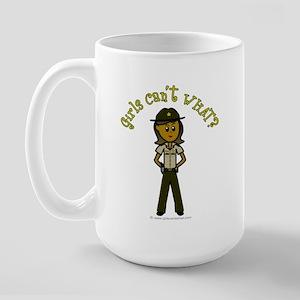Dark Brown Sheriff Large Mug