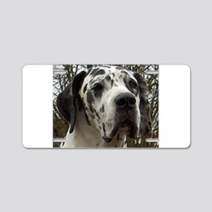 great dane harlequin Aluminum License Plate