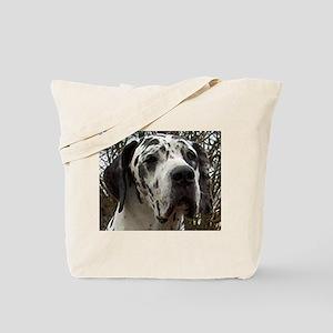 great dane harlequin Tote Bag