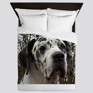 great dane harlequin Queen Duvet