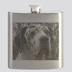 great dane harlequin Flask