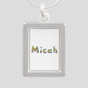 Micah Giraffe Silver Portrait Necklace