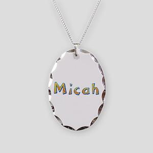 Micah Giraffe Oval Necklace
