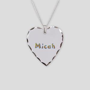 Micah Giraffe Heart Necklace