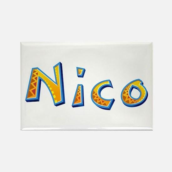 Nico Giraffe Rectangle Magnet