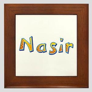 Nasir Giraffe Framed Tile