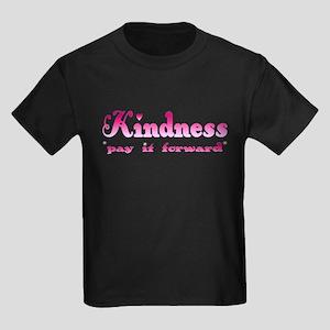 KINDNESS-pay it forward Kids Dark T-Shirt