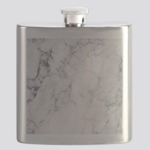 White & Gray Faux Marble Flask