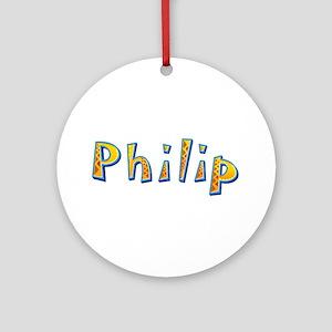Philip Giraffe Round Ornament