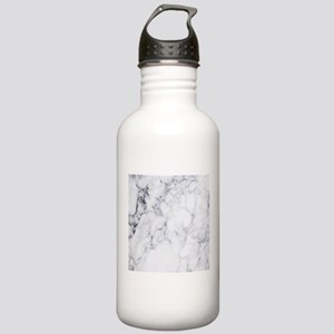 White & Gray Faux Stainless Water Bottle 1.0L