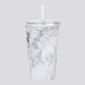 White & Gray Faux Acrylic Double-wall Tumbler