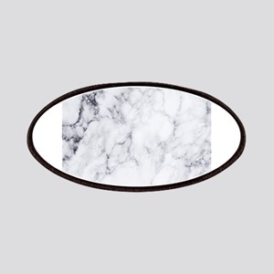 White & Gray Faux Marble Patch