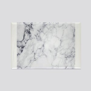 White & Gray Faux Marble Magnets
