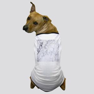 White & Gray Faux Marble Dog T-Shirt