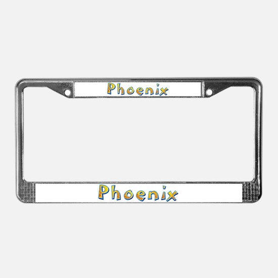 Phoenix Giraffe License Plate Frame