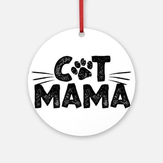 Cat Mama Round Ornament