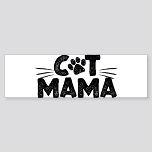 Cat Mama Bumper Sticker
