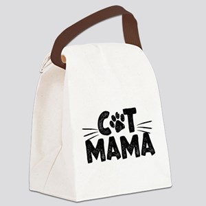 Cat Mama Canvas Lunch Bag