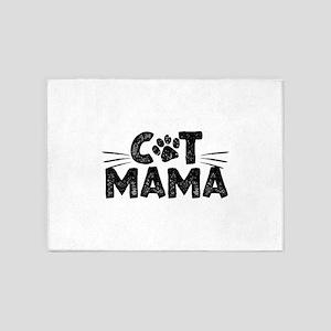 Cat Mama 5'x7'Area Rug