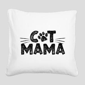 Cat Mama Square Canvas Pillow