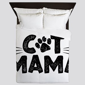 Cat Mama Queen Duvet