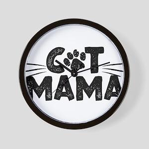 Cat Mama Wall Clock