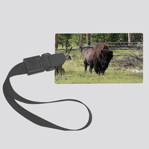 Bison of Yellowstone Photo Large Luggage Tag