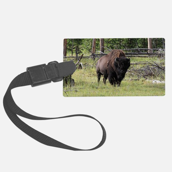 Bison of Yellowstone Photo Luggage Tag