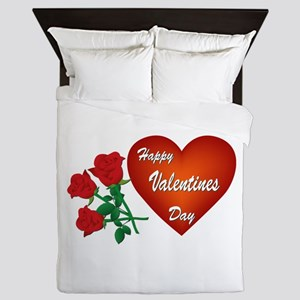 Heart and Roses Queen Duvet