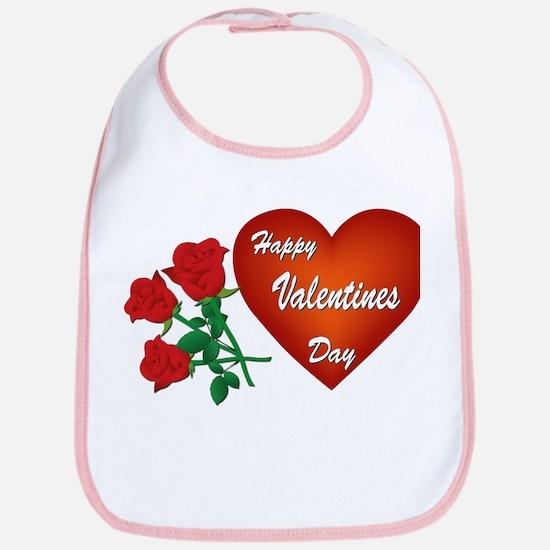 Heart and Roses Bib