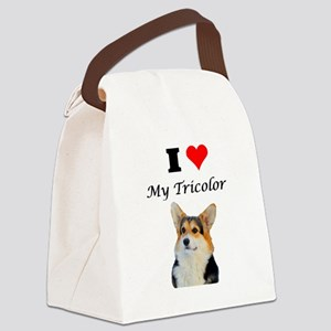 I love my Tricolor Corgi Canvas Lunch Bag
