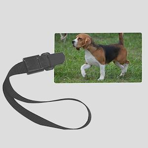 Really Cute Beagle  Large Luggage Tag