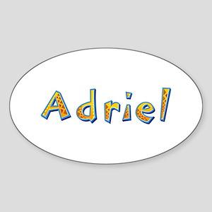 Adriel Giraffe Oval Sticker