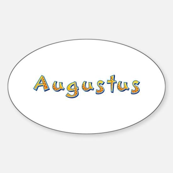 Augustus Giraffe Oval Decal