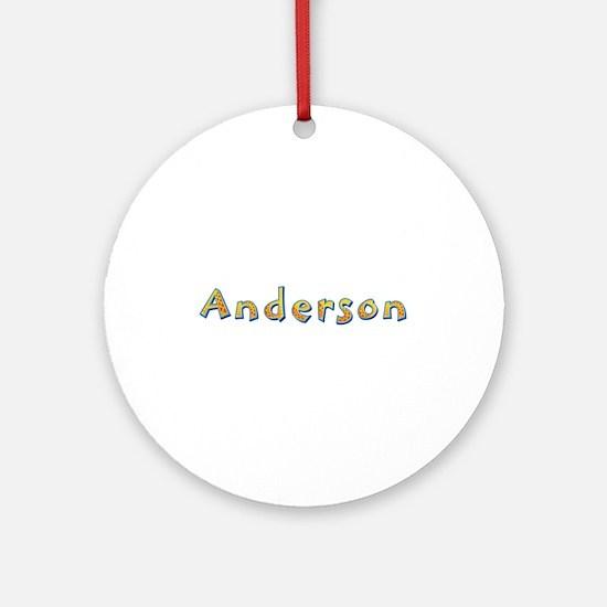 Anderson Giraffe Round Ornament