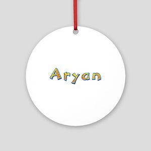 Aryan Giraffe Round Ornament