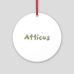 Atticus Giraffe Round Ornament