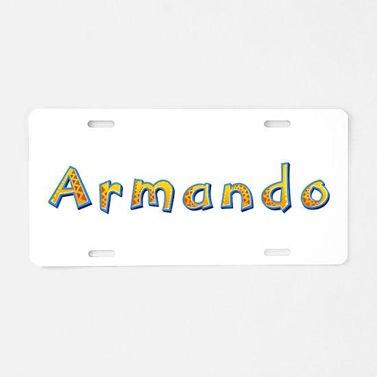 Armando Giraffe Aluminum License Plate