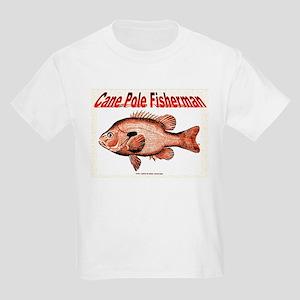 Cane Pole Fisherman, Kids Light T-Shirt