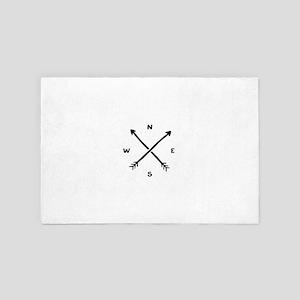 Compass Arrow 4' x 6' Rug