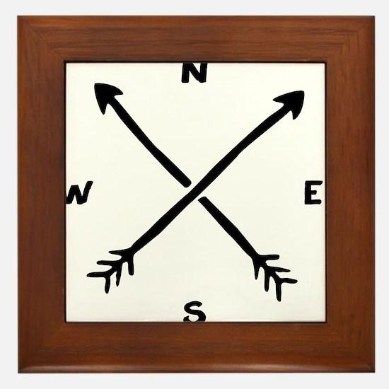 Compass Arrow Framed Tile