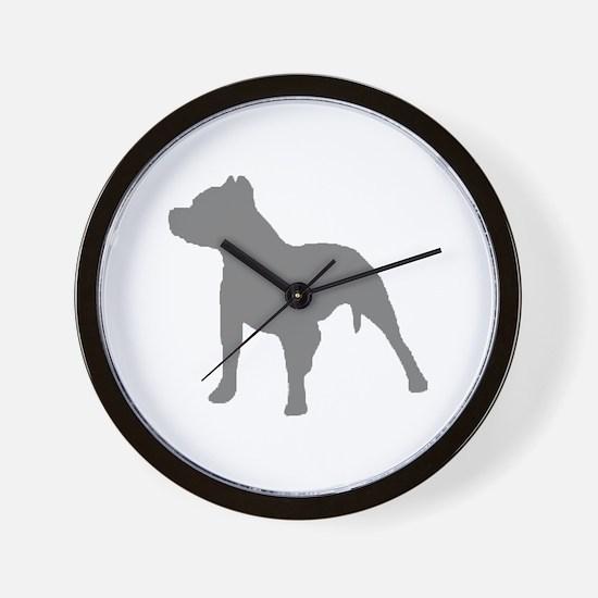 pitbull gray 1C Wall Clock
