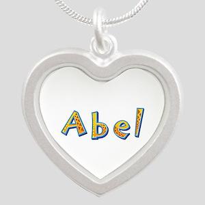 Abel Giraffe Silver Heart Necklace