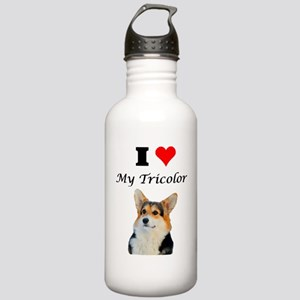 I Love my Tricolor Corgi Water Bottle