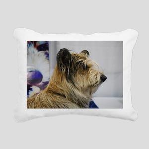 Shaggy Berger Picard Dog Rectangular Canvas Pillow
