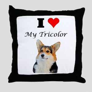 I love my Tricolor Corgi Throw Pillow
