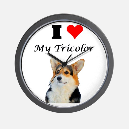 I love my Tricolor Corgi Wall Clock