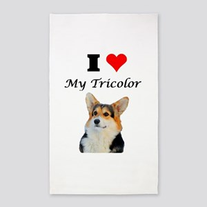 I love my Tricolor Corgi 3'x5' Area Rug