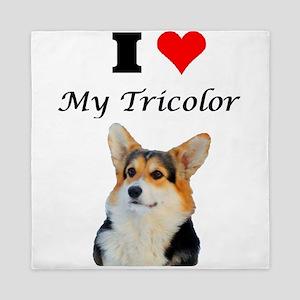 I love my Tricolor Corgi Queen Duvet